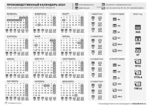 Календарь 2021 черно-белый, горизонтальный, 6-дневка